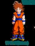 Dragonball AU: Son Goshinn (Teen) by 0-MidnightBioshock-0