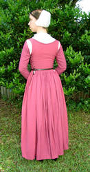 A Pink Kirtle back view by CenturiesSewing
