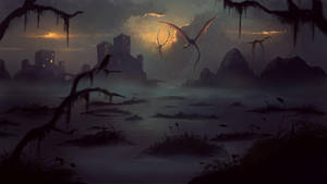 Swamp Painting by Peter-Ortiz