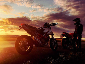 Ducati Sunset by Peter-Ortiz