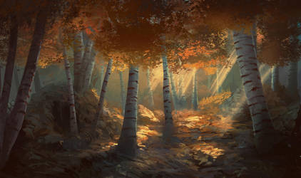 Autumn Forest by Peter-Ortiz