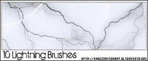 Lightning Brushes by pinkshadoww