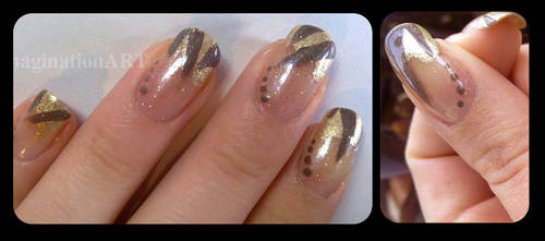 Golden Autumn - Nail ART by pinkshadoww