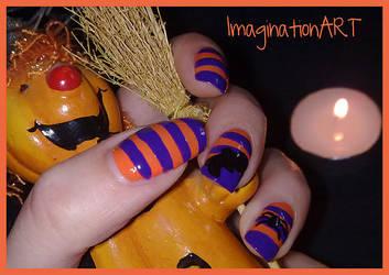 Halloween Nail ART by pinkshadoww