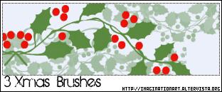 Xmas Brushes by pinkshadoww