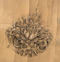 lotus sketch by DLXONE
