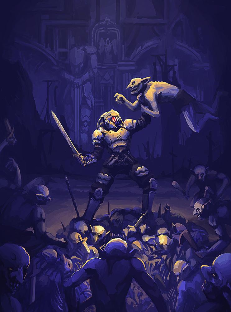 Medieval Doomguy by FakeWaffle