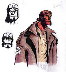 BPRD - Hellboy by Blaquesmith