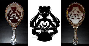 Sailor Moon Etched Mirror Design by Ranefea