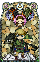 Twilight Princess Stained Glass, Orange Version by Ranefea