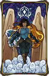 Korra Stained Glass by Ranefea