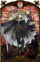 Alucard Stained Glass by Ranefea