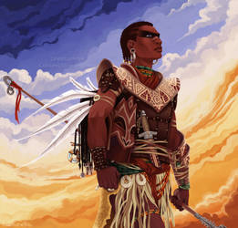 African Warrior by LudiNine