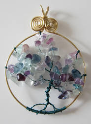 Tourmaline Tree of Life Pendant by madewithloveL