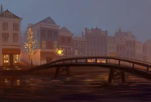 Night falls by Rina-Li