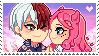 : SupportStamp Shouto x Hanari : BNHA OC : by bakawomans