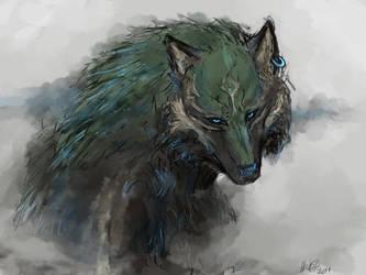 Wolf Link by lllannah