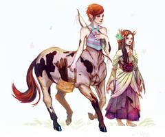 Sagittarius and Cancer by lllannah