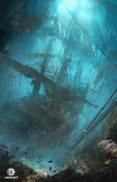 Assassin's Creed IV: Black Flag_Underwater wreck by Donglu