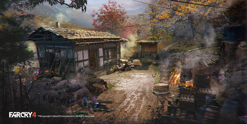 FarCry4 Concept Art - Mission site by Donglu