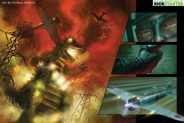 World War Kaiju Page Art by Josh-Finney