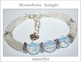 Moonstone bangle by amorfia