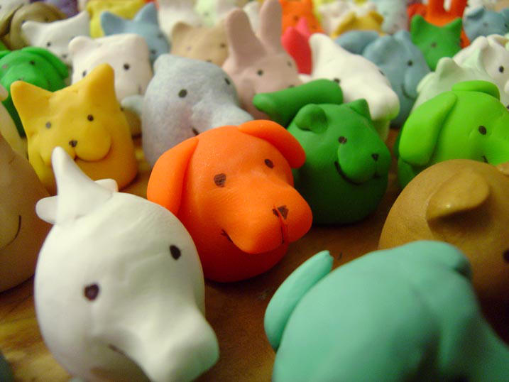 Detail of Munchy Animal Army by jadress