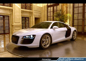 Audi R8 in a Great Hall by SamWhisp