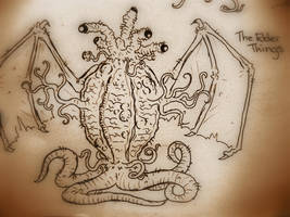 HP Lovecraft's Elder Thing by Cryptdidical
