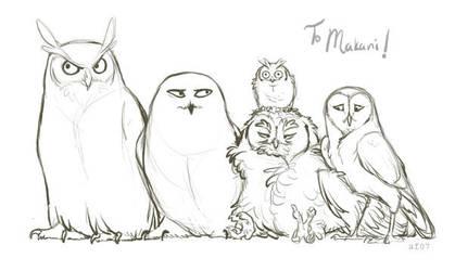 The Owls of Harry Potter by lyosha
