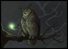 Eagle-owl Mage by lyosha