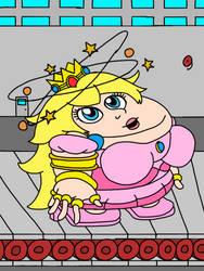 Princess peach flat and dizzy by Kraaikop