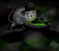 Rat Witch by littlemisskirby