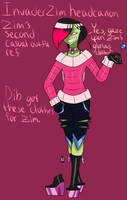 IZ headcanon Zim's second casual outfit ref by RadioDemonDust