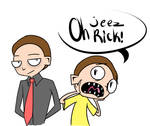 InvaderZIM-Styled Evil Morty and Morty doodle by Glitched-Irken