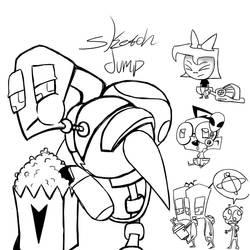 InvaderZIM sketch dump by Glitched-Irken