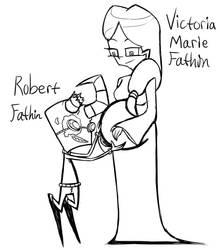 IZ OCs Vee's parents doodle by Glitched-Irken
