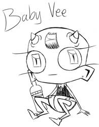 Baby Vee doodle (see description~) by Glitched-Irken