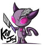 IZ closed species adopt test: KillJoy by Glitched-Irken