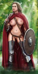 Bare Battle Maiden by Stoskri