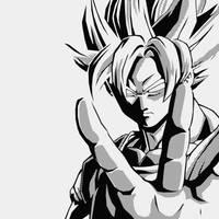 Goku B and W by BoredBored