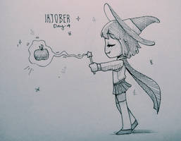 Inktober Day 4 Spell by Bel-Art27