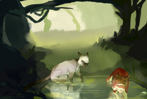 Kiss Kiss fall in pond || by Thicc-Neko