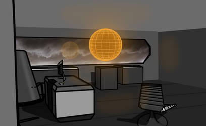 Quick Sci Fi office by Rossil-Fuel