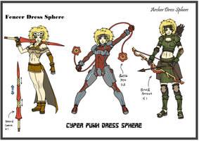 Rikku DF3 - Dress Spheres - 1 by Hunter-Wolf