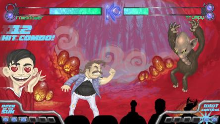 Rowsdower vs. Trumpy by FutureDami