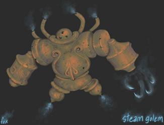 Exfolian Steam Golem by FutureDami