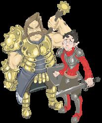 Sir Rowsdower and Page Troy by FutureDami
