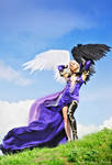 Goddess with Black Wing by lady-narven