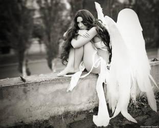 Sad Angel by lady-narven
